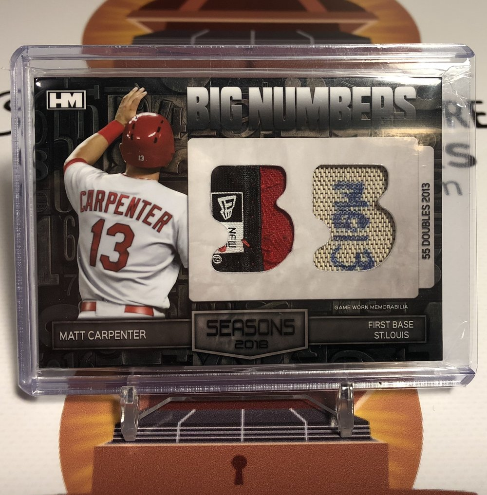 Hits Seasons 2018 Matt Carpenter Big Numbers 1/1