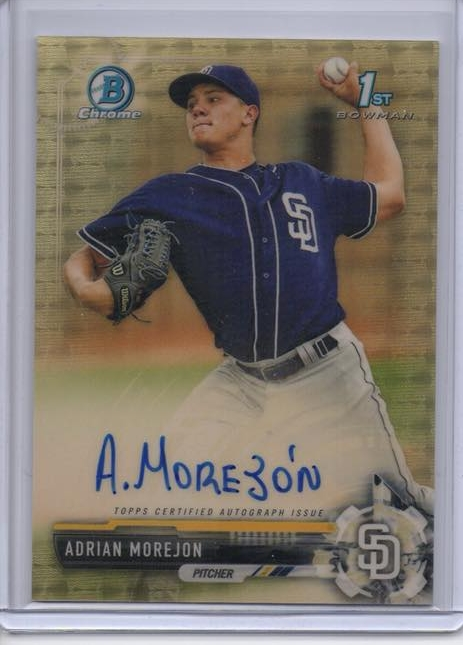 2017 Bowman Chrome Adrian Morejon Superfractor Auto #1/1