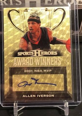2017 Leaf Metal Sports Heroes Allen Iverson Award Winners Superfractor Auto 1/1