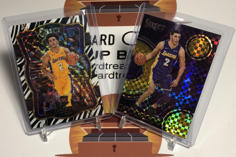 2017-18 Panini Select Lonzo Ball Zebra & Phenomenon /10
