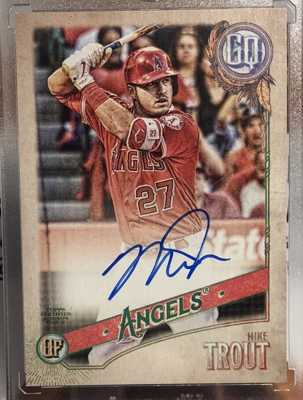 2018 Topps Gypsy Queen Mike Trout Auto