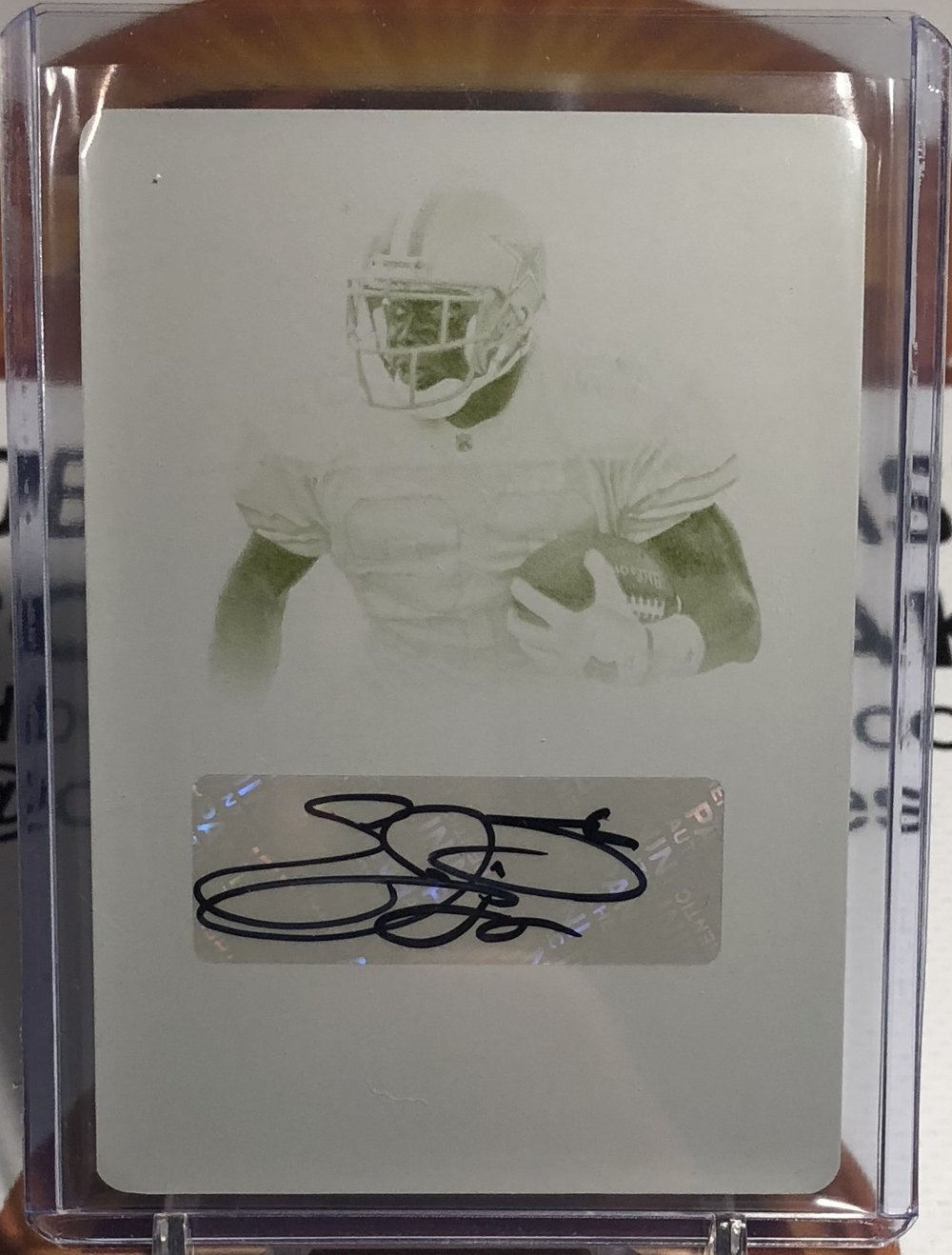 2017 Panini National Treasures Emmitt Smith Printing Plate Auto 1/1