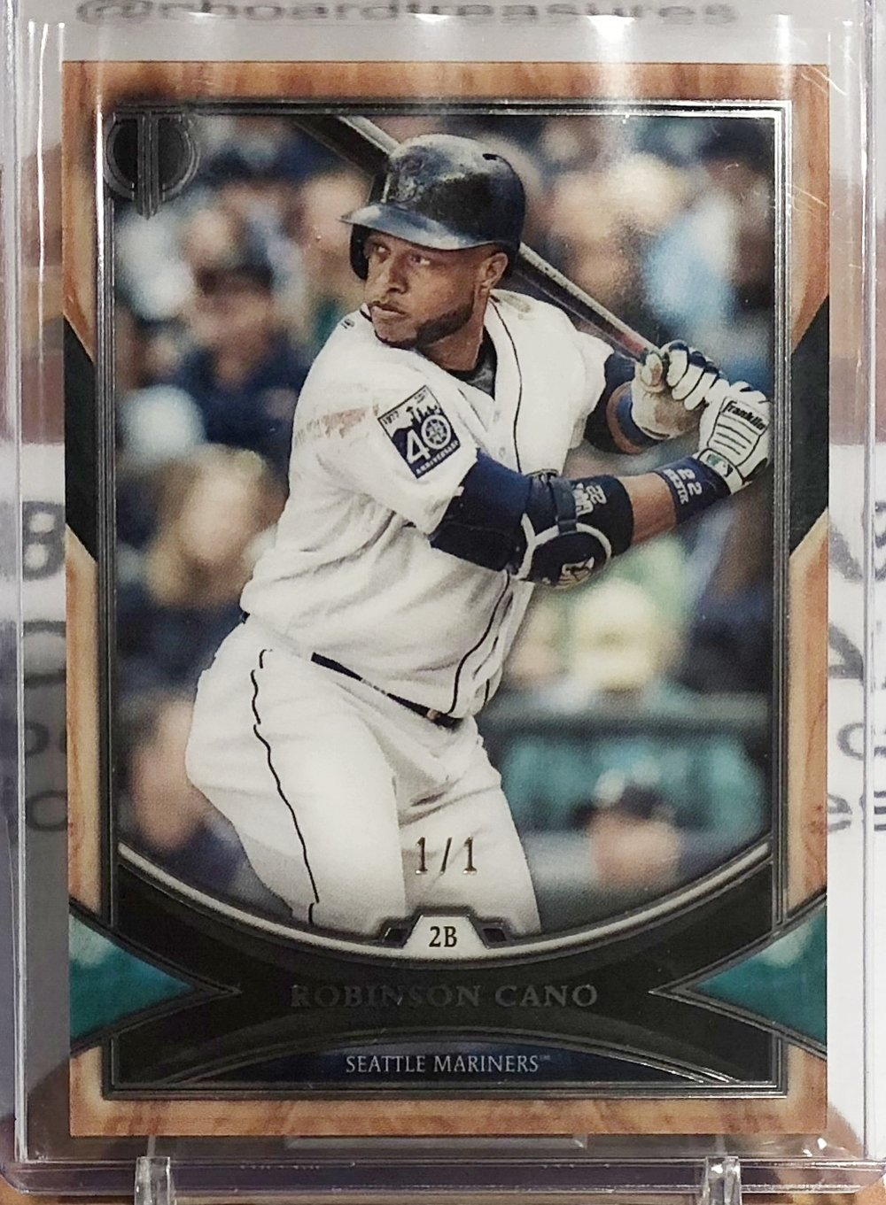 2018 Topps Tribute Robinson Cano Black 1/1