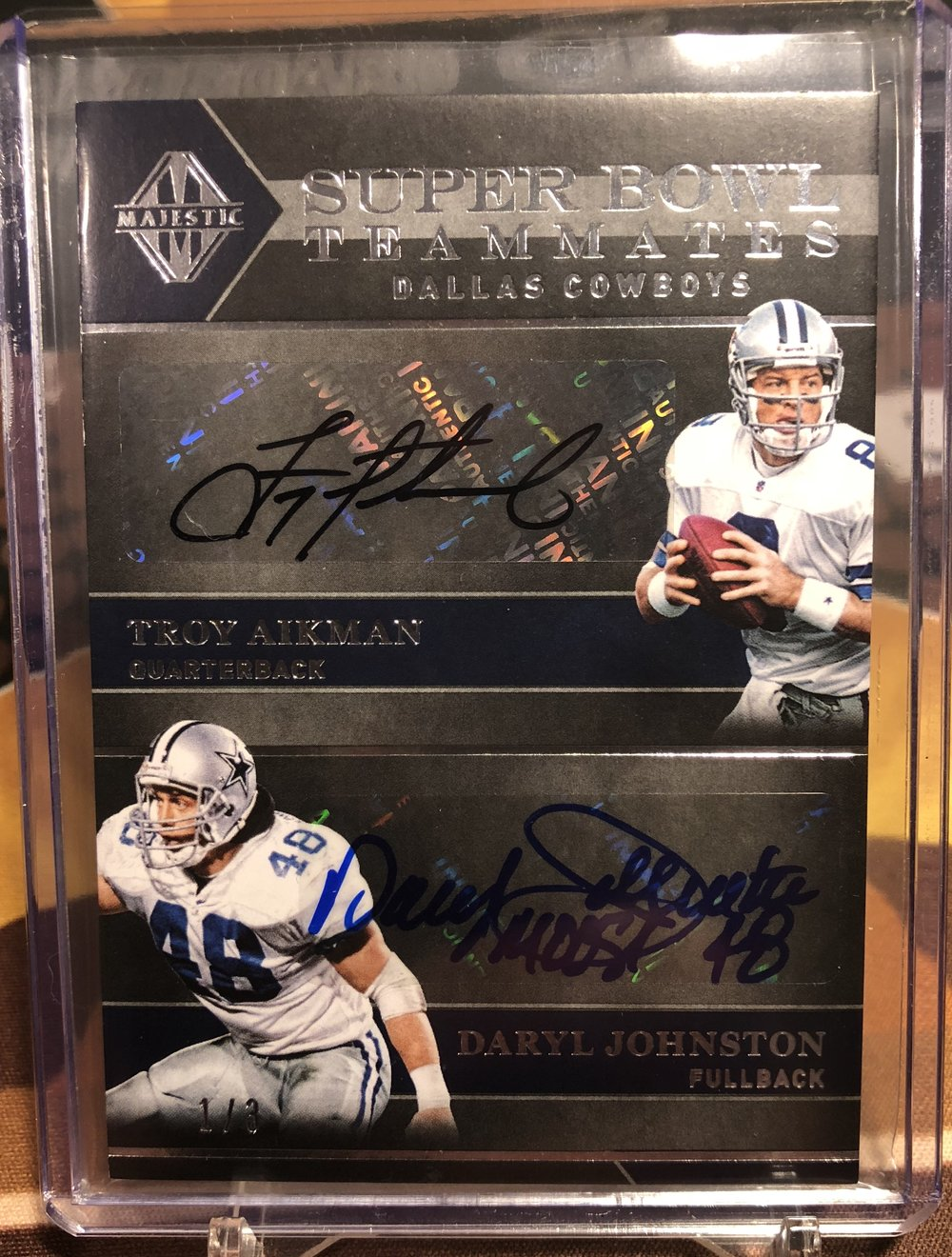 2018 Panini Majestic Super Bowl Teammates Aikman/Johnston/Novacek/Allen Quad Auto 1/3