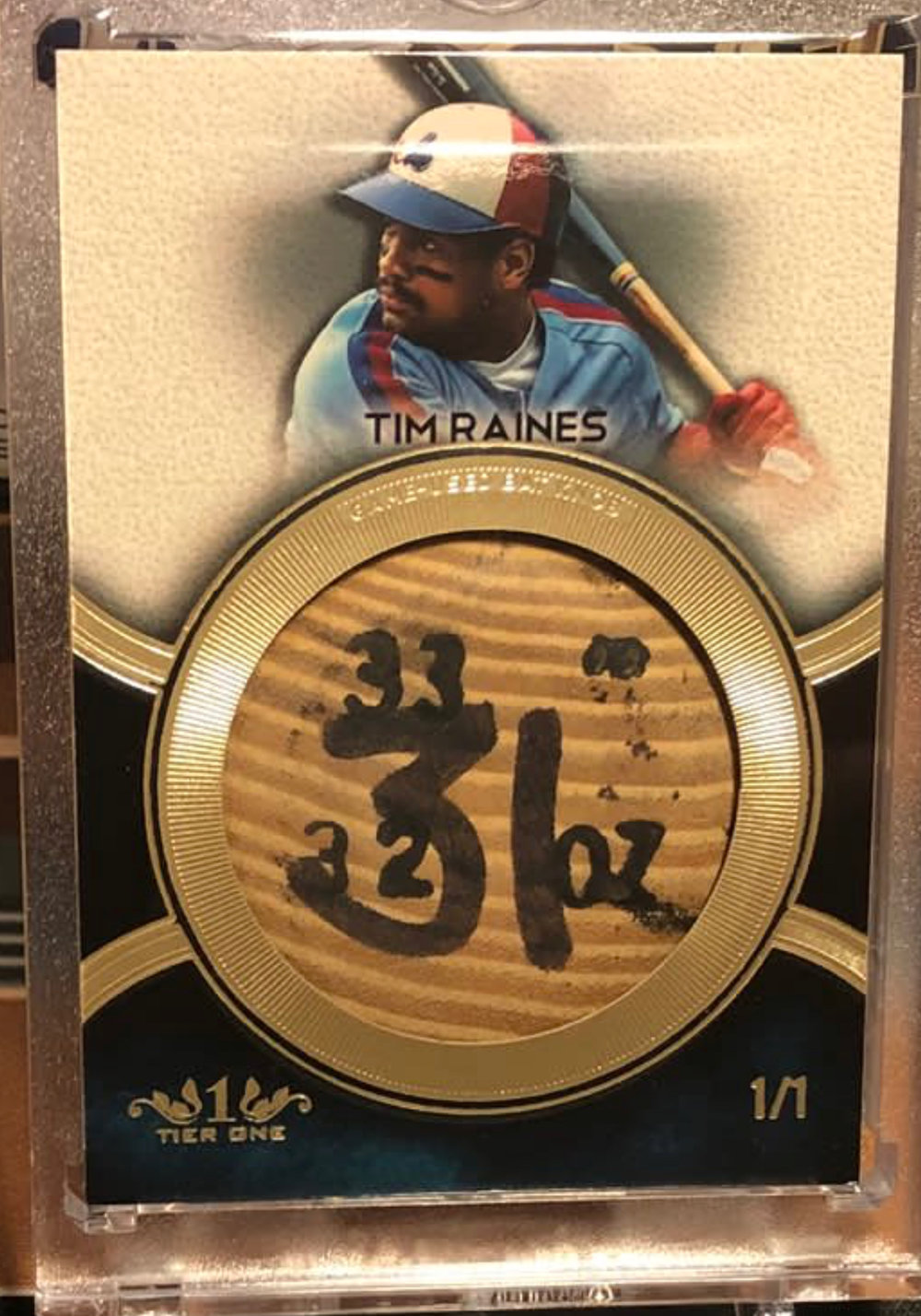 2018 Topps Tier One Bat Knob Tim Raines 1/1