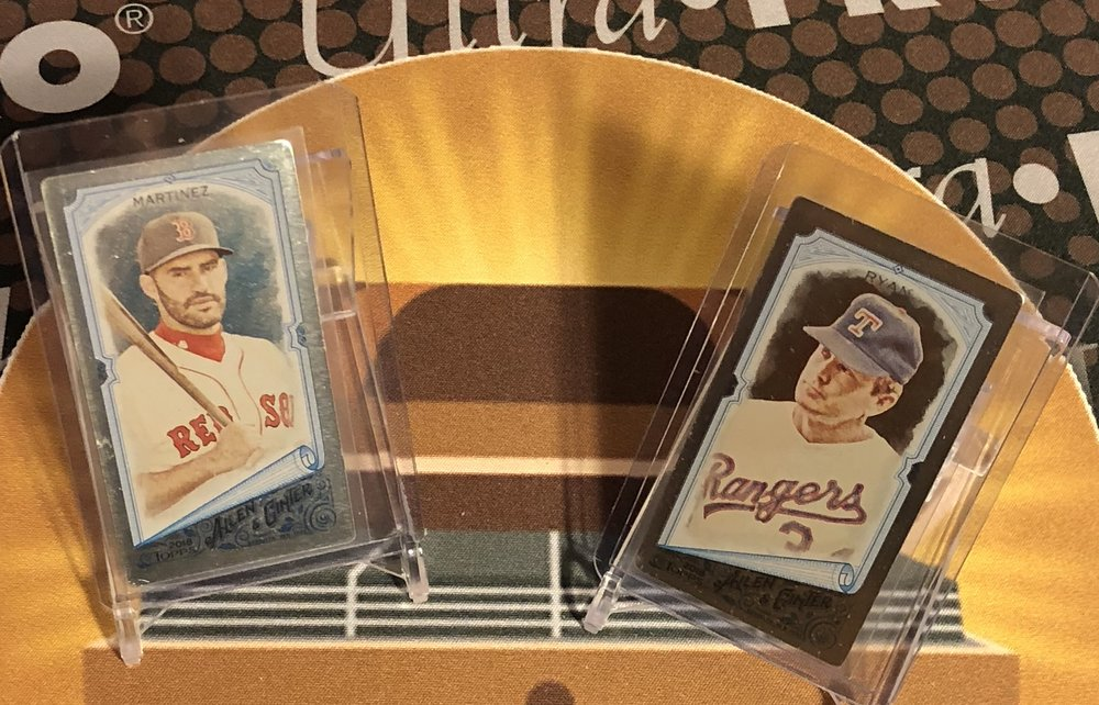 2018 Topps Allen & Ginter J.D. Martinez & Nolan Ryan Metal Minis /3 (Same Pack)