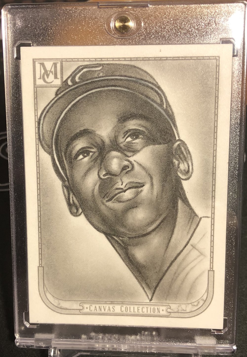 2018 Topps Museum Collection Ernie Banks Canvas Collection Original Art Card 1/1
