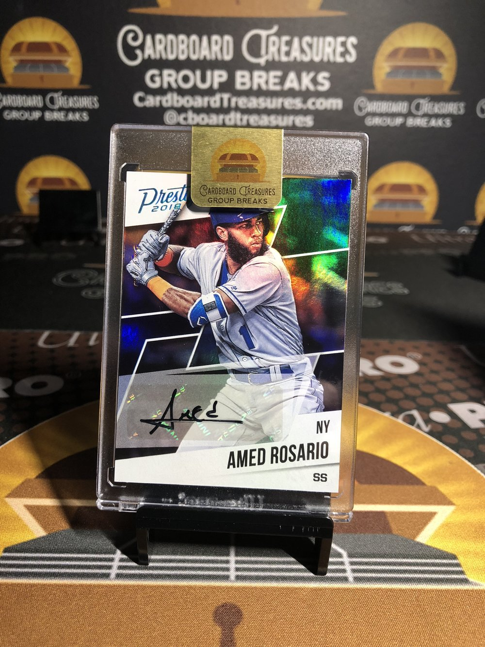 2018 Panini Chronicles Prestige Rookie Autograph Amed Rosario Black 1/1