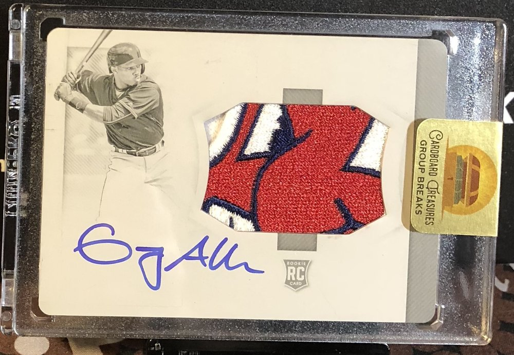 2018 Panini National Treasures Greg Allen Printing Plate Rookie Team Logo Patch Auto 1/1