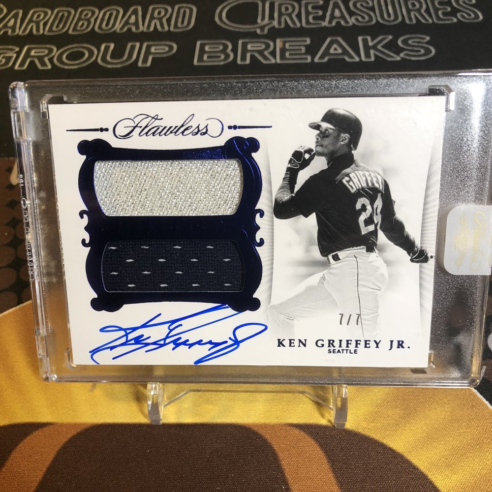 2018 Panini Flawless Ken Griffey, Jr. Patch Auto #7/7