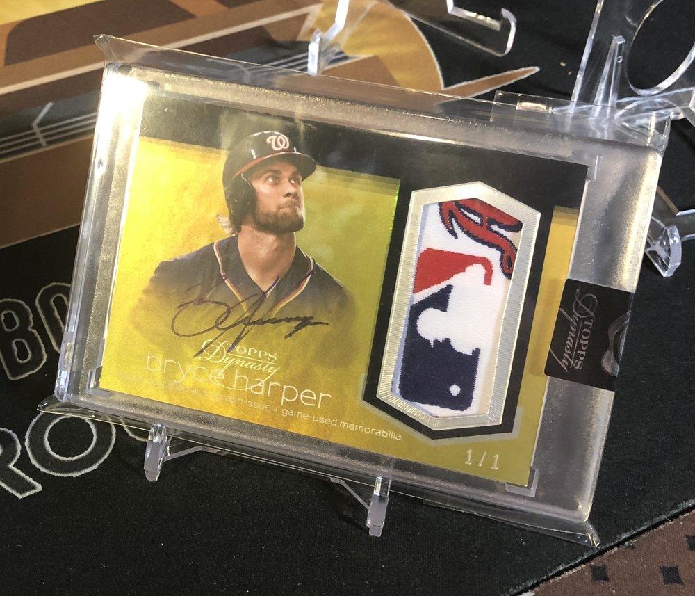 2018 Topps Dynasty Bryce Harper MLB Logoman Autograph 1/1