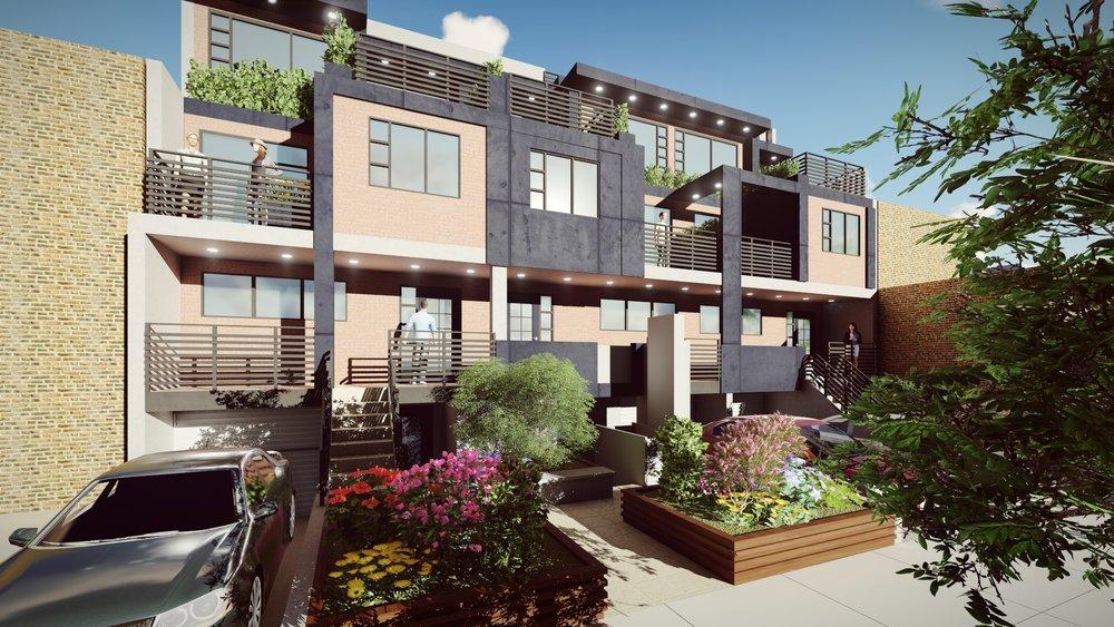 E.54th STREET Design and visualization for a 10-unit condominium in Brooklyn