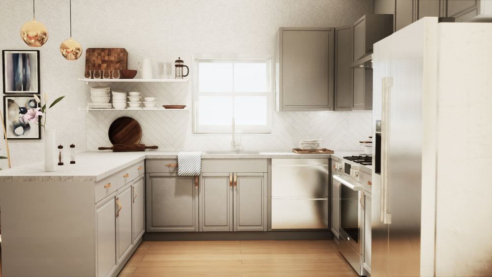 Vr for interior design and kitchen design