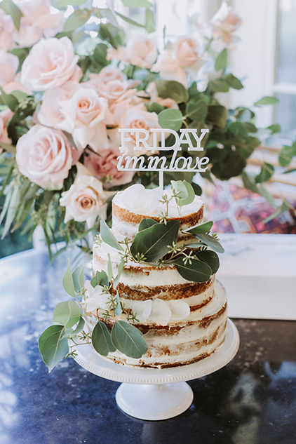 Semi Naked Wedding Cake At The Chiswick Wedding