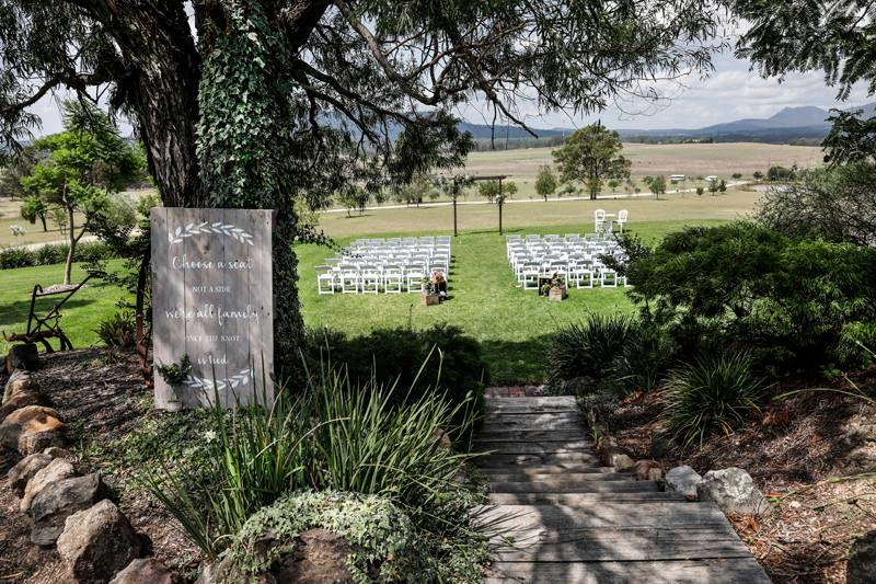 Wedding ceremony set up Hunter Valley Wedding