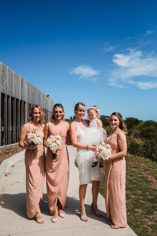 Bridesmaids at Marks Park for a Bondi Beach Wedding