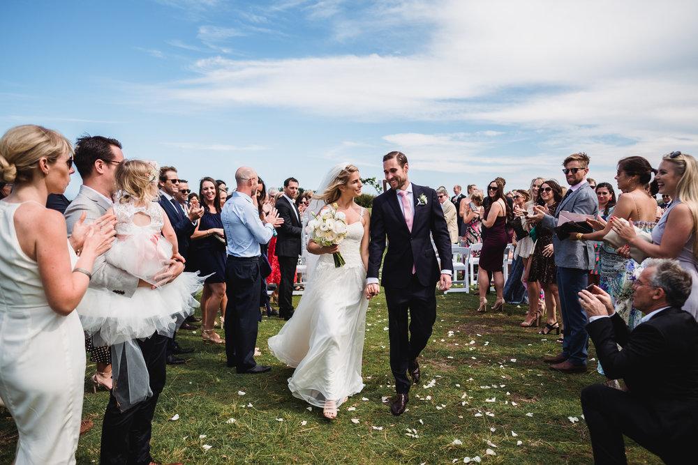 Bride and Groom at Marks Park at a Bondi Beach Wedding
