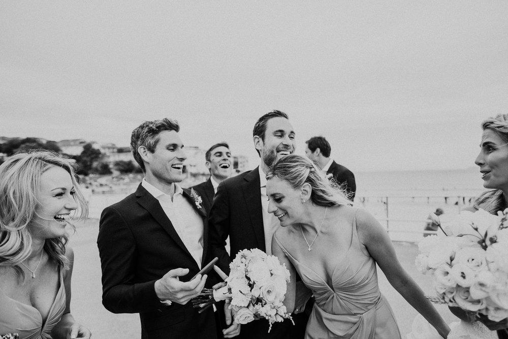 Bridal party at Bondi Beach