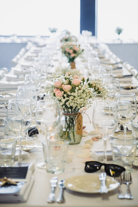 Wedding Table Decorations at North Bondi Surf Club Wedding Reception