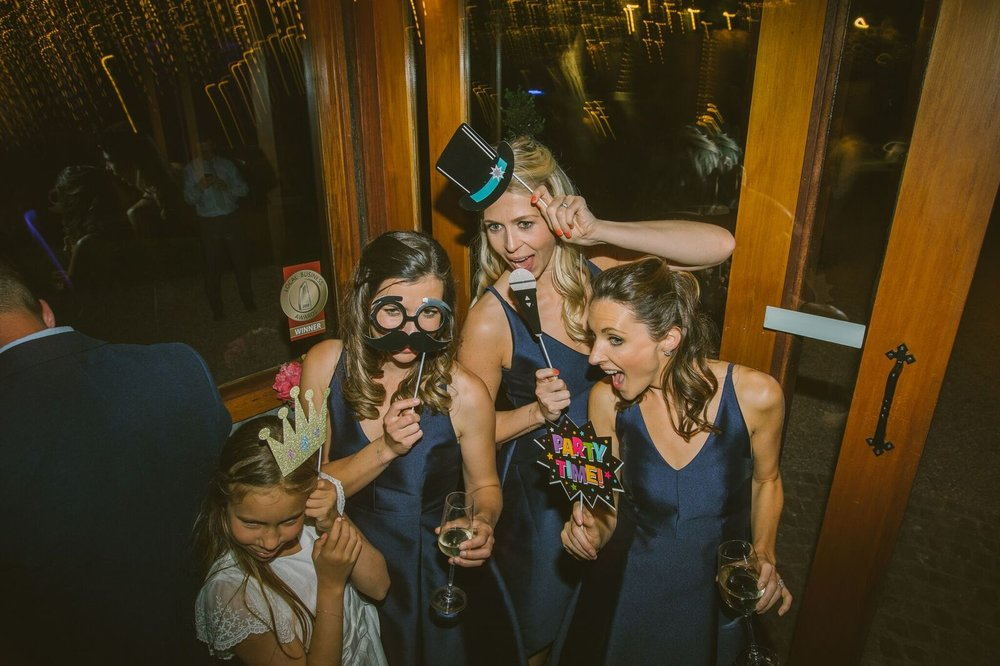 Photo booth bridesmaids