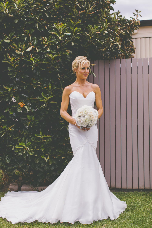Natalie Lowe in her Wedding Dress