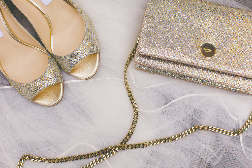 Jimmy Choo Wedding Shoes and Wedding Bag