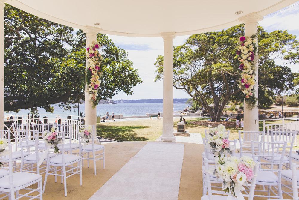 Natalie Lowe and James Knibbs wedding ceremony at Balmoral Rotunda