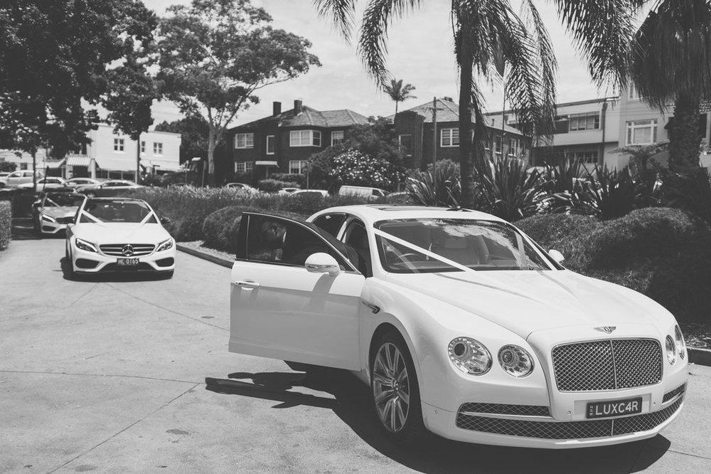 Wedding Cars at Balmoral Wedding