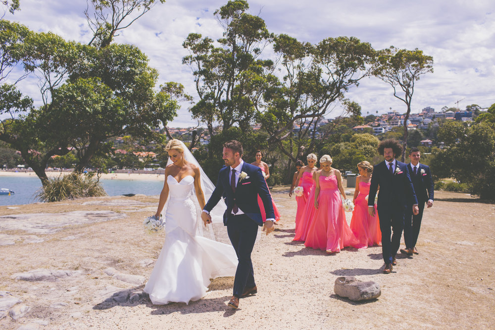 Wedding photos at Balmoral Beach