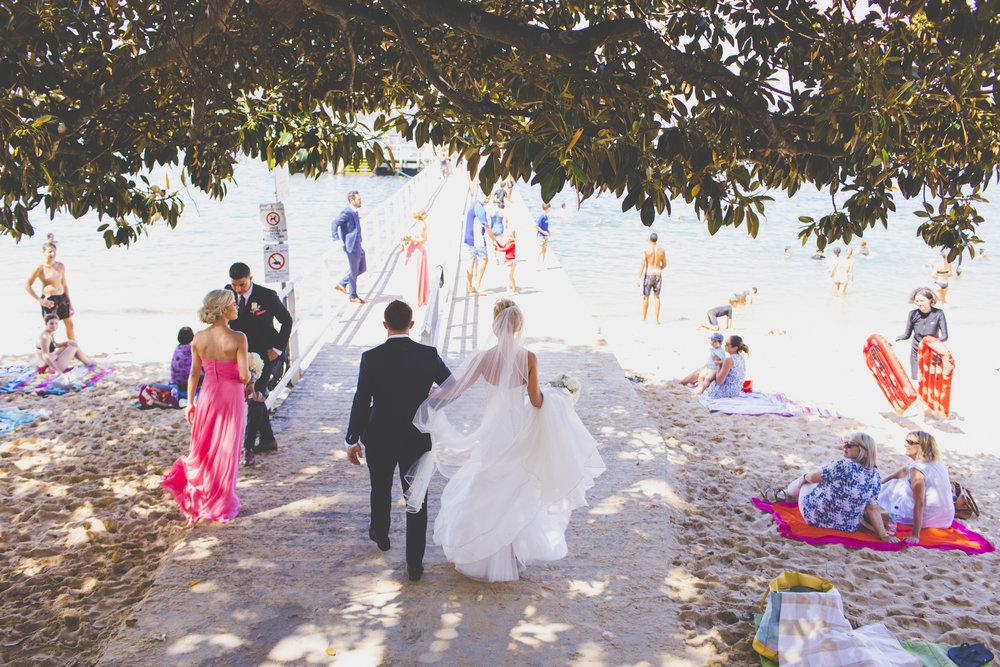 Bride and Groom at Balmoral Beach