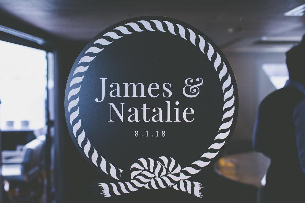 Personalised Logo on Sahana Wedding Reception