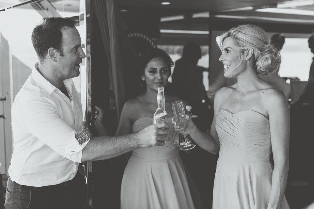 Bridesmaids on Sahana Yacht Wedding