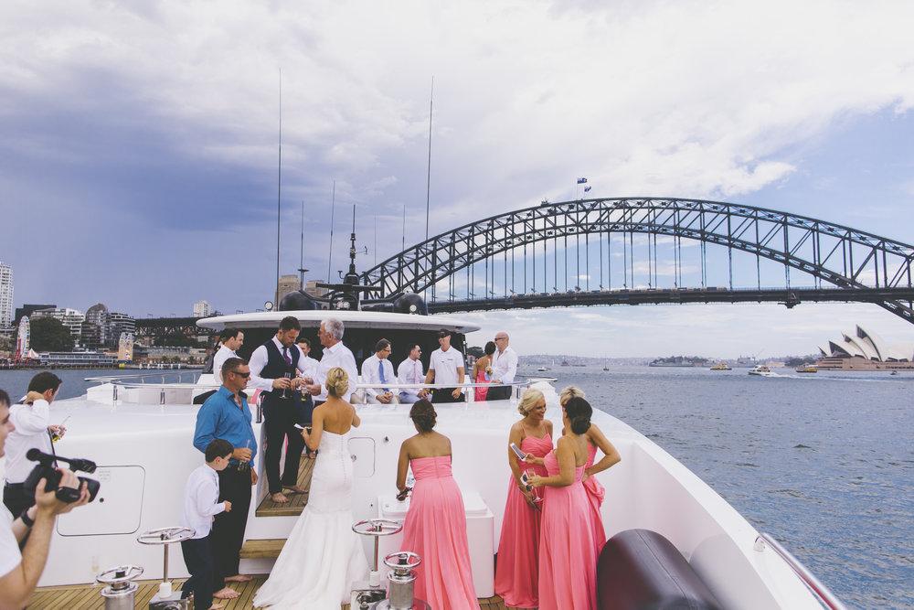 Natalie Lowe and James Knibbs Wedding Sahana Yacht