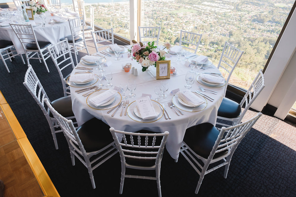 Guest table at Panorama House Wedding