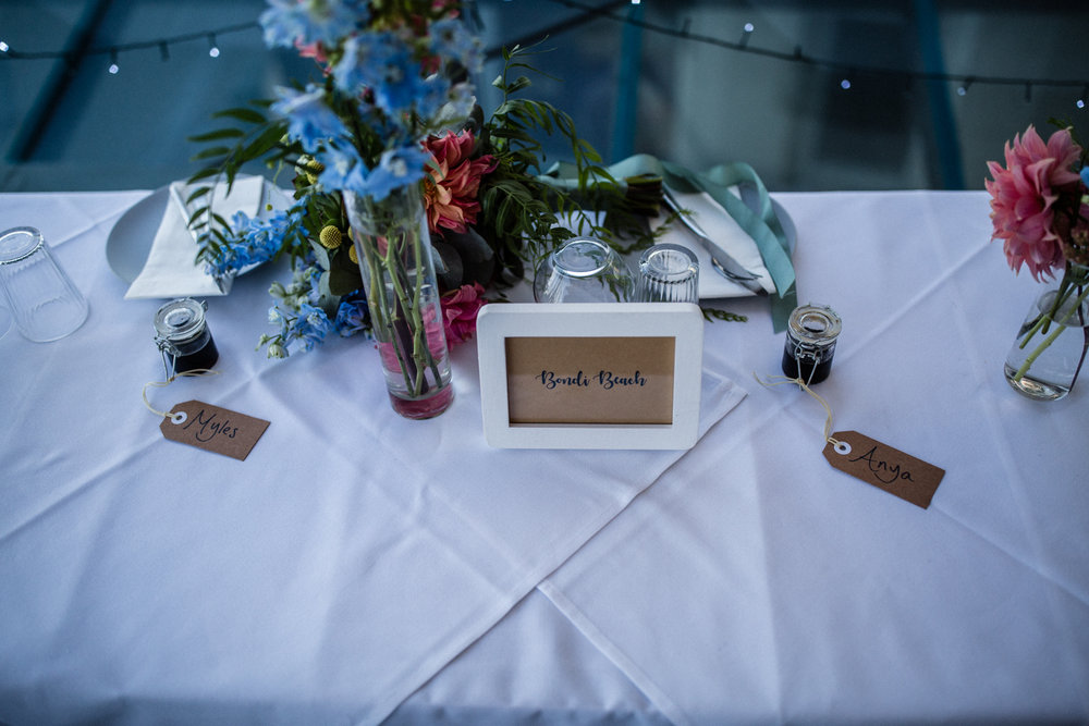 BONDI BEACH WEDDING TABLE DECORATIONS