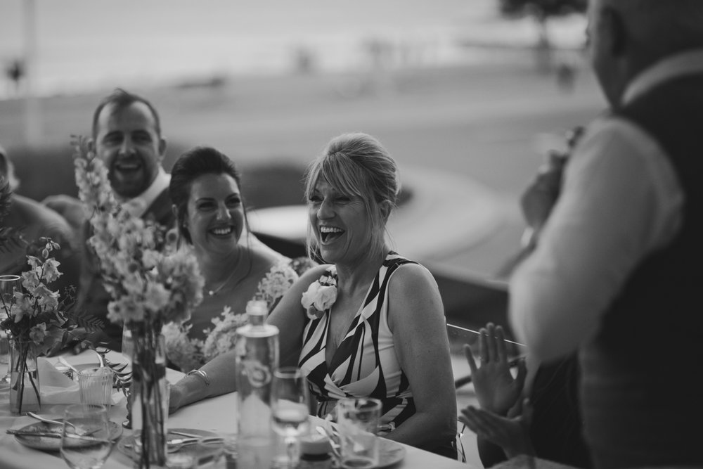 MOTHER OF BRIDE AT SYDNEY WEDDING IN BONDI BEACH