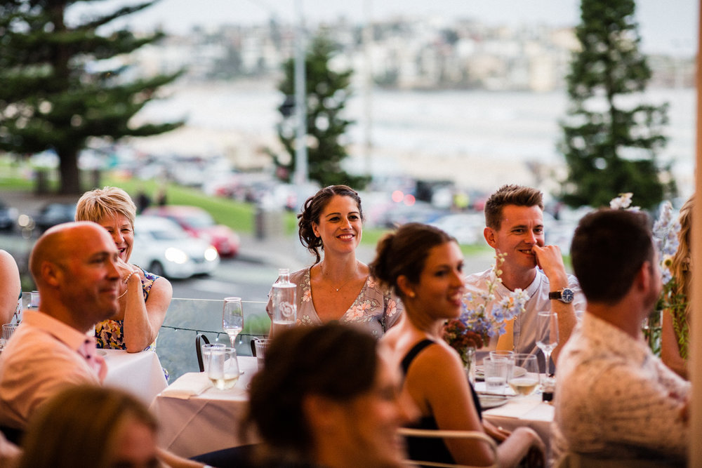 WEDDING GUESTS AT VIEW BAR BONDI BEACH