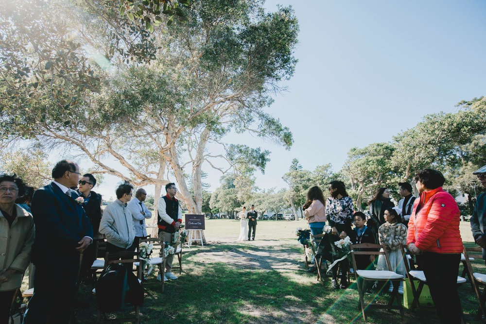 Wedding Ceremony at Watsons Bay