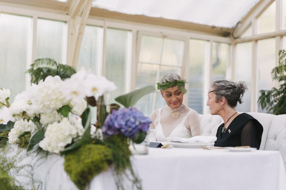 Julia and Lesley at The Palm House Royal Botanic Gardens