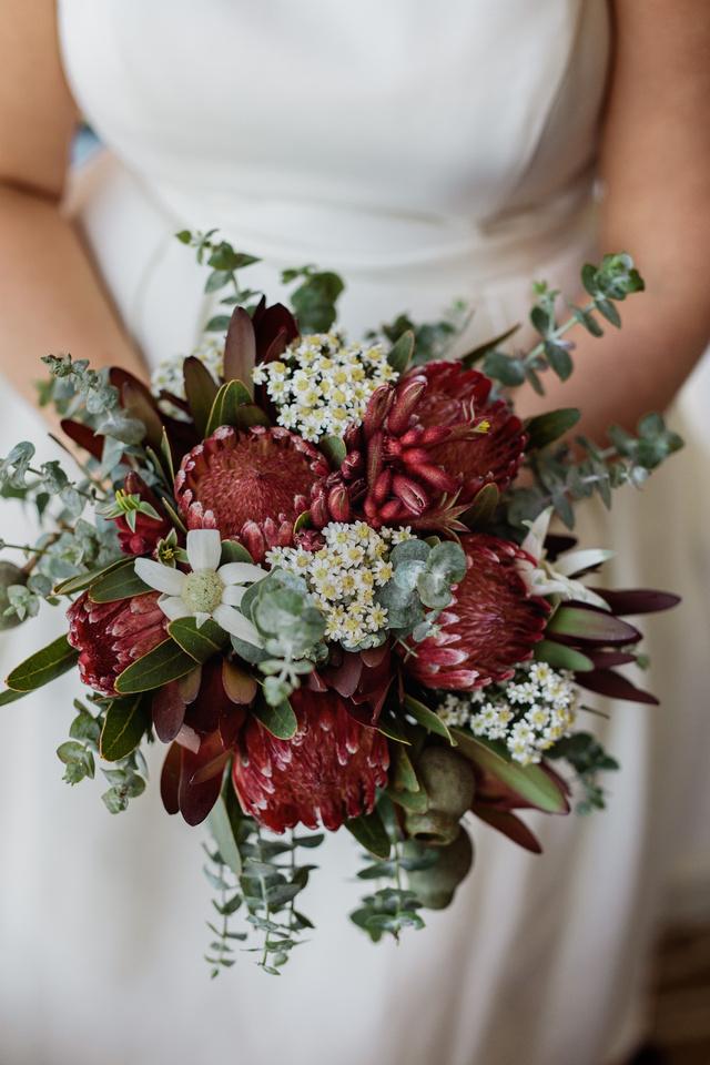 Bridal bouquet of Australian native flowers