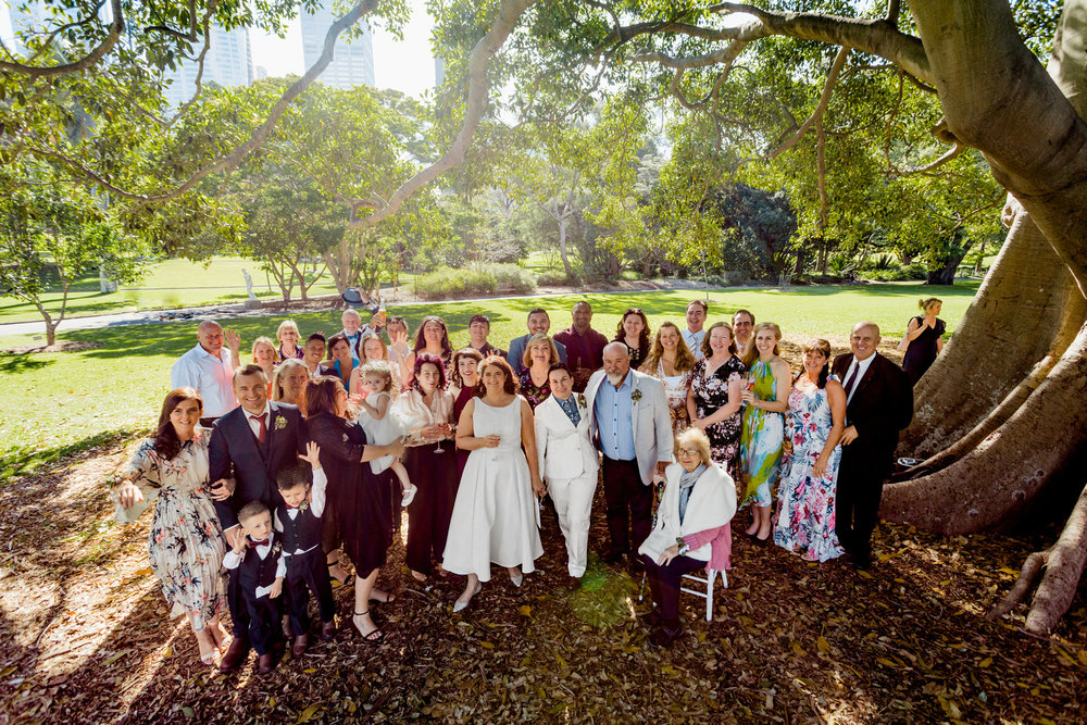 Wedding party group shot planned by Samantha Burke Events Sydney Wedding planner