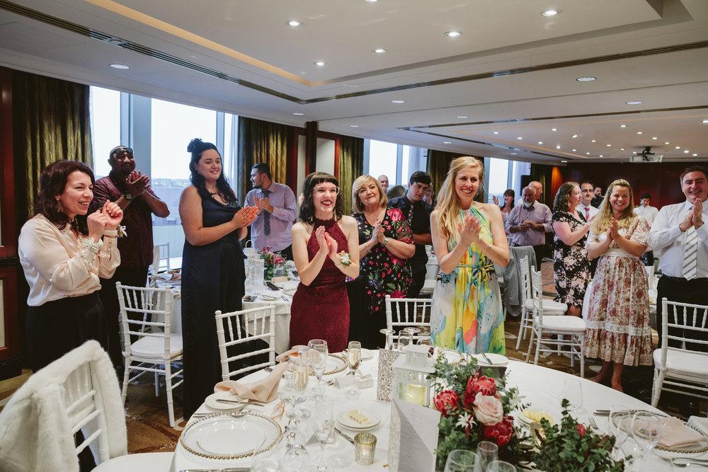 Wedding guests at Shangri-La Sydney