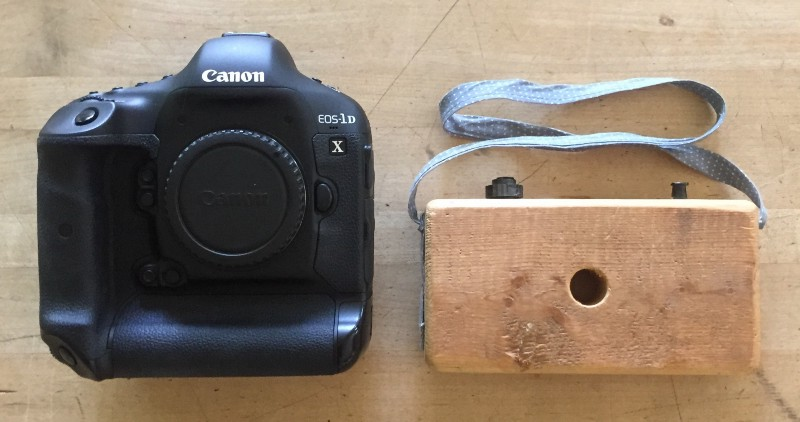 My first camera (on the right, obviously)