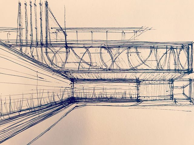 Disjointed thoughts frigging with order. Looks like a constant. #architecture #drawing #sketches