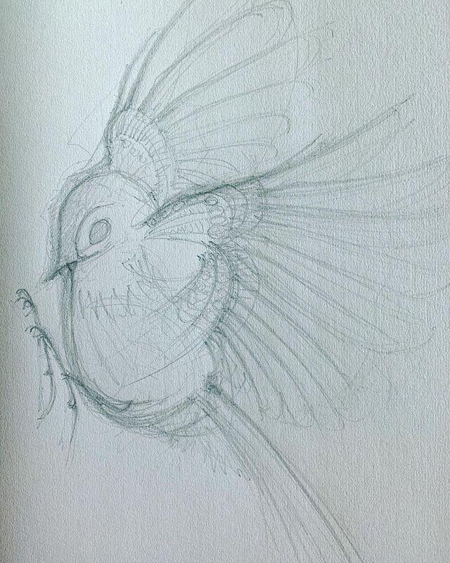 Poignancy, flight. Learning from the birds. #nature #birds #flight #sketch #jewellery #bag