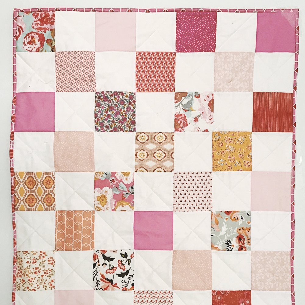 Baby Pink Patchwork Quilt