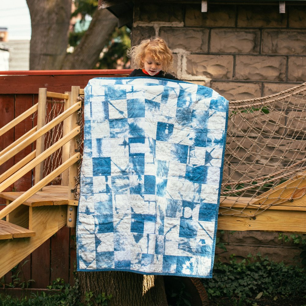 Indigo Patchwork for Baby G