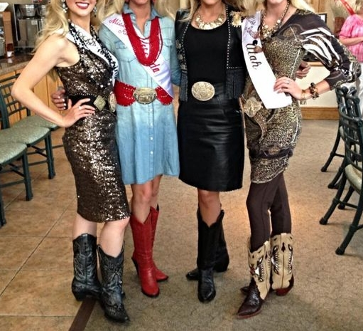 State representatives wear fashion-forward outfits at appearances, which is acceptable. At  Miss Rodeo America , these same women compete in attire that adheres to the MRA pageant guidelines for that year. Always read your rules!