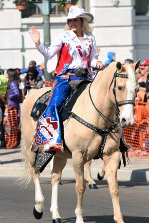 Our idols are people, too, and struggle with self-doubt even as they choose to overcome it and pursue a goal.   Miss Rodeo Texas , photo courtesy of  U.S. Army  and the annual Western heritage parade and cattle drive.