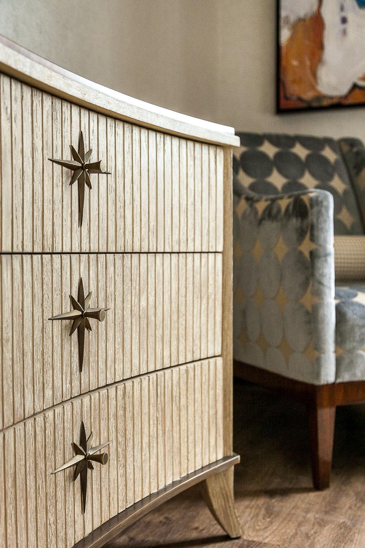 Palo Alto dresser detail. Jana Magginetti Interior Design